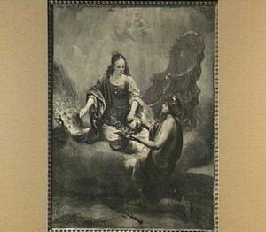 Juno versiert de staart van haar pauw met de ogen van Argus, die zij van Mercurius krijgt