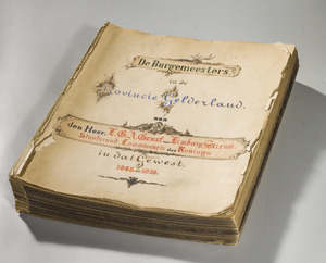 Fotoalbum burgemeesters van Gelderland, 1853-1878