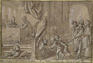 De H.  Anno als kanselier  van keizer Hendrik IV
