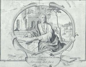Portret van de schilder Jan Frans van Bloemen (1662-1749)