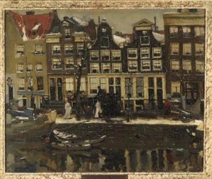 Korte Prinsengracht te Amsterdam in de sneeuw