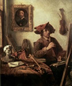Zelfportret van Job Adriaensz. Berckheyde (1630-1693)
