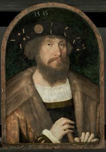 Portret van Christiaan II, koning van Denemarken