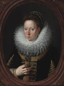 Portret van een zevenendertig jarige vrouw
