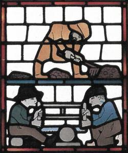 De mijnbouw (venster nr. 14)