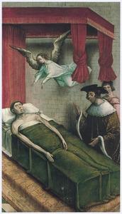 De H. Vincent van Zaragoza opgebaard