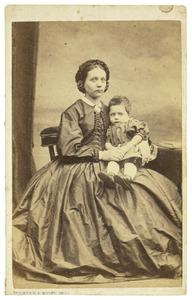 Portret van Anthonia Cornelia Heineken (1836-1919) en Wijnand Huijser van Reenen (1860-....)