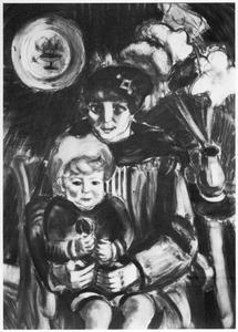 Portret van Maroussia Barannikoff (1887-1932), echtgenote van Henri Le Fauconnier en een kind