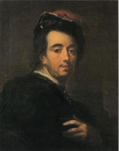 Zelfoportret van Frans de Backer (1680-1750)