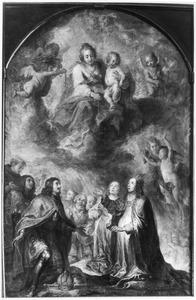 De H. Maagd deelt de rozenkrans uit aan keizer Ferdinand III en zijn vrouw Anna Maria van Oostenrijk