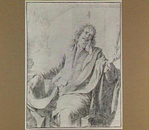 Zittende man met hoed en wijnglas