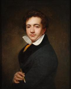Zelfportret van Cornelis Kruseman (1797-1857)