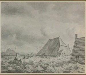 Overstroming van de Kleine Meente, tussen Oudeschoot en Wolvega