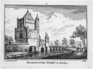 De Amsterdamse Poort of Spaarnwouderpoort te Haarlem in 1680