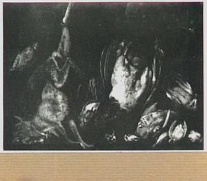 Stilleven van gevogelte en vos
