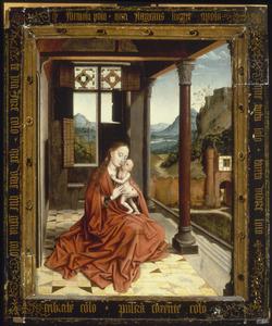 Maria met kind in een loggia