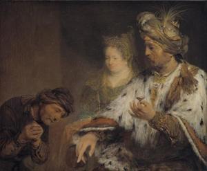 Ahasveros geeft zijn zegelring aan Mordekai (Ester 8:1-2)