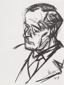 Portret van Adrianus Roland Holst (1888-1976)