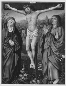 Christus aan het kruis geflankeerd door HH. Maria en Johannes