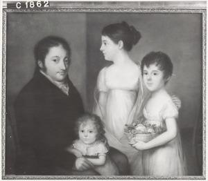 Portret van Hieronymus Sillem (1768-1833) met drie dochters
