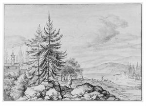 Scandinavisch berglandschap met kapel