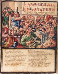 Satirische weergave van een dronken orkest
