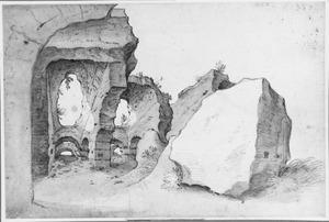 Ruïne van de wandelgang van het Colosseum in Rome