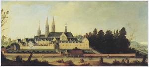 Gezicht op de abdij van Egmond