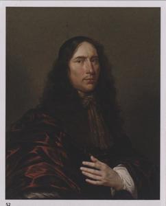 Portret van een man in een bruine mantel met een halsdoek