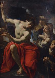 Johannes de Doper preekt in de woestijn