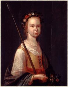 Portret van een meisje als herderin