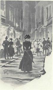 Jonge vrouw in de straten van Parijs