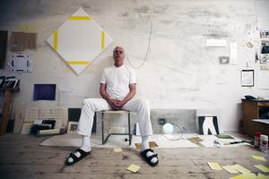 Jan Andriesse in zijn atelier
