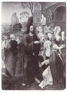 Christus neemt afscheid van zijn moeder