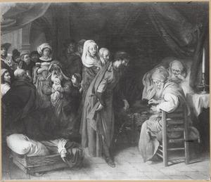 De naamgeving van Johannes de Doper door zijn  vader Zacharias (Lucas 1:59-63)
