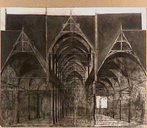Doorsnede van de Oude Kerk, Amsterdam