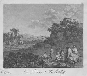 Zuidelijk landschap met badende nimfen