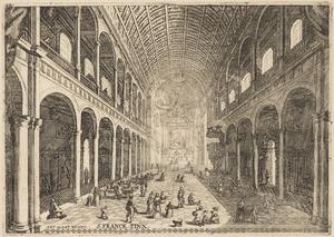 Interieur van de Jezuitenkerk H. Carolus Borromeus te Antwerpen