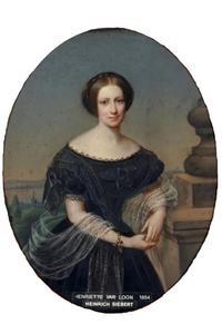 Portret van Henriette Agnes van Loon (1825-1902)