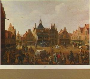 De Hof te Amersfoort met het oude stadhuis