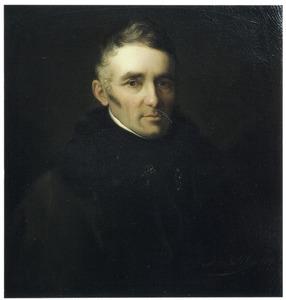 Portret van Hendrick Hentzepeter (1781-1845), conciërge en portier van het Mauritshuis