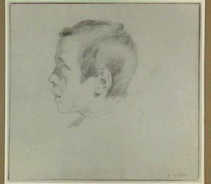 Portretkop van een jongen