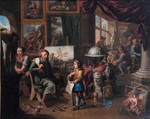 Interieur van een kunstenaarsatelier