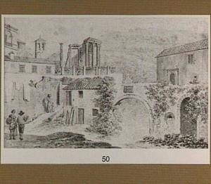 Tivoli, de tempel van de Sibylle en San Rocco-brug over de Aniene