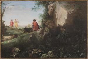 Landschap met Tobias en de engel Rafael