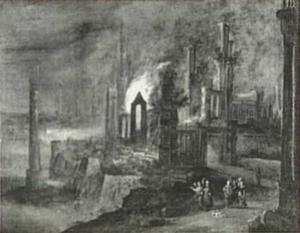 Lot en zijn familie verlaten Sodom, tot haast aangespoord door een engel (Genesis 19:15-29)