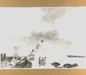 IJsgang aan de Waaldijk bij Ochten in 1789