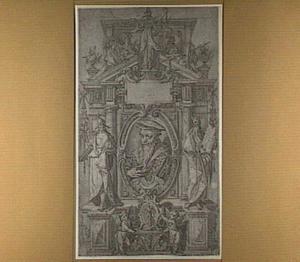 Titelblad met portret van de rechtsgeleerde Tiberius Decianus (1509–1582)