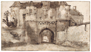 De voorpoort van de middeleeuwse Westpoort van Rhenen