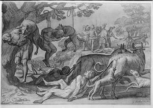 Koning Jarmeric laat gevangengenomen Wenden martelen